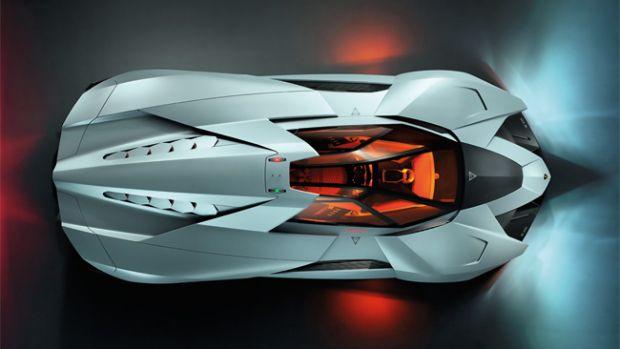 Lamborghini Egoista vista de cima