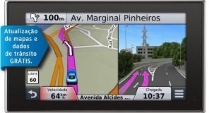 GPS Nüvi 3597LMT da Garmin permite navegação avançada por comando de voz
