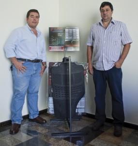 Na foto, os diretores Maurício Magone e José Mario