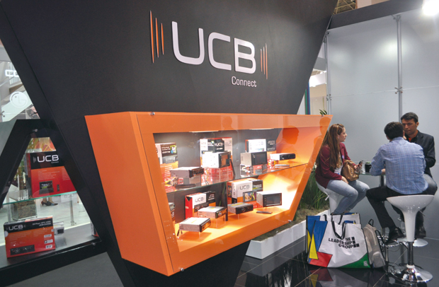 Aspecto do stand da Unicoba