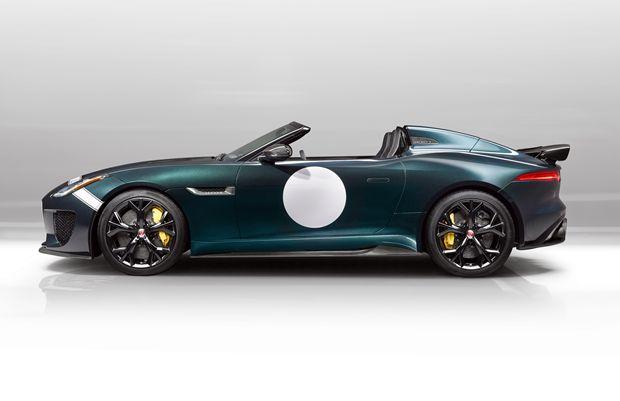 Vista lateral do Jaguar F-Type Project 7