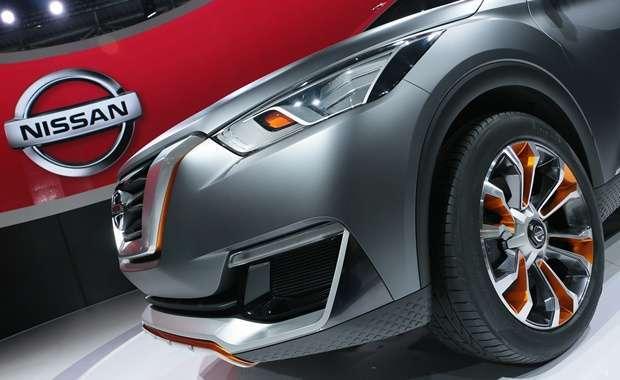 Detalhe da lateral dianteira do Nissan Kicks Concept