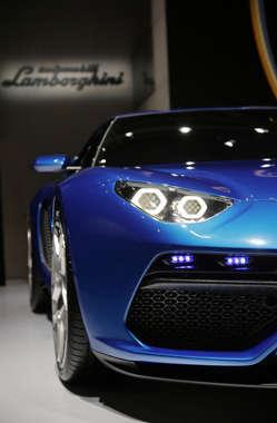 Detalhe do concept car Lamborghini Asterion