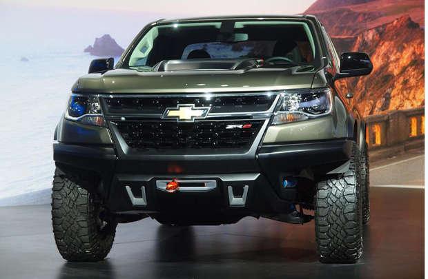 A bela frente da Chevrolet Colorado ZR2 Concept