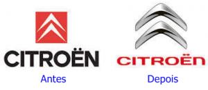 evolução dos logos da Citroen