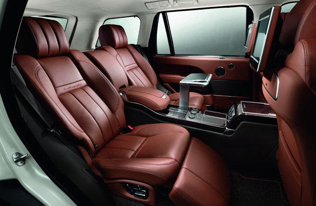 interior customizado da Range Rover Autobiography Black