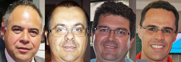 Distribuidores de som e acessórios automotivos - Nilton Oliveira, Jacó Duarte, Cássio Heinzen e Erick Barros