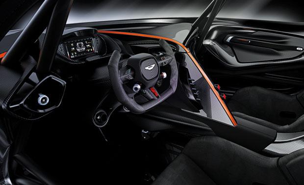 Interior do Aston Martin Vulcan