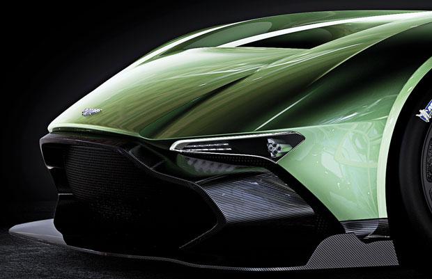 Detalhe da frente do Aston Martin Vulcan
