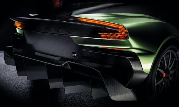 Detalhe da traseira do Aston Martin Vulcan