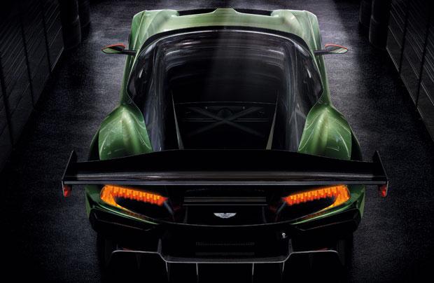 Vista superior do Aston Martin Vulcan