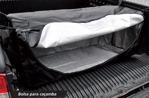 A bolsa para caçamba é um acessório que também pode ser oferecido para donos de pick-ups