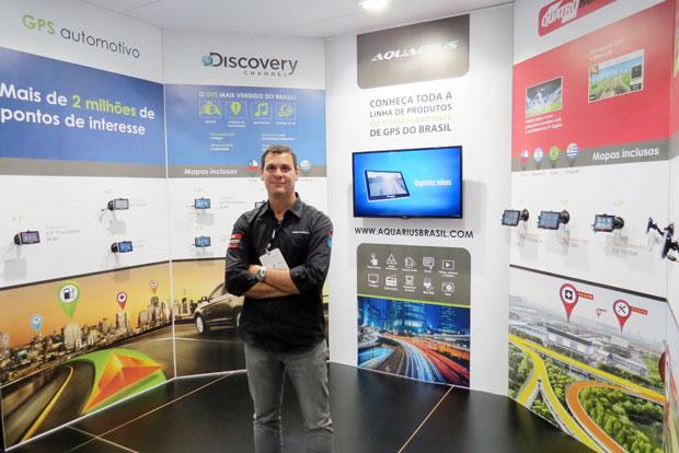 Aquarius som e acessórios automotivos na feira Eletrolarshow