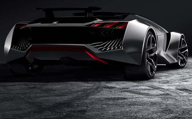 Traseira do Peugeot Vision Gran Turismo