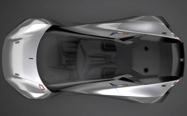 Peugeot Vision Gran Turismo visto de topo