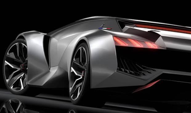 Detalhe da traseira do Peugeot Vision Gran Turismo