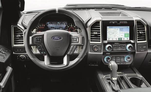Painel de instrumentos da pick-up Ford F-150 Raptor