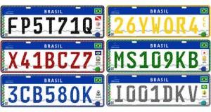 Placa padrão Mercosul será lançada hoje no RJ