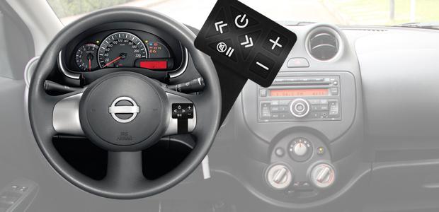 Controle de som no volante slim