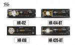 LINHA DE MP3 PLAYERS - Com os modelos HR-412, HR -414 BT, HR 418 e HR-420 BT. Todos contam com entrada USB, Slot para cartão SD / MMC CARD, possui entrada auxiliar permitindo uma conectividade rápida e de fácil manuseio.