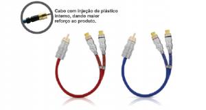Cabo RCA Prime Y Plug Metal, da Tech One