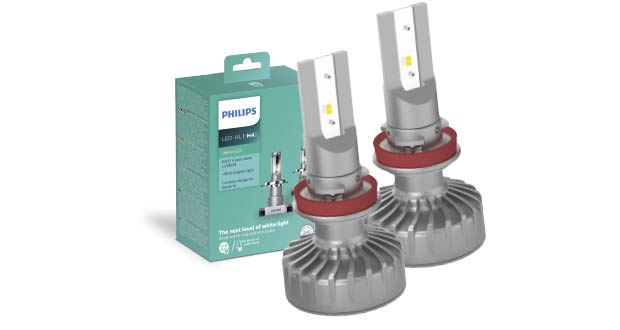 Lâmpadas LED Ultinon para faróis, da Philips