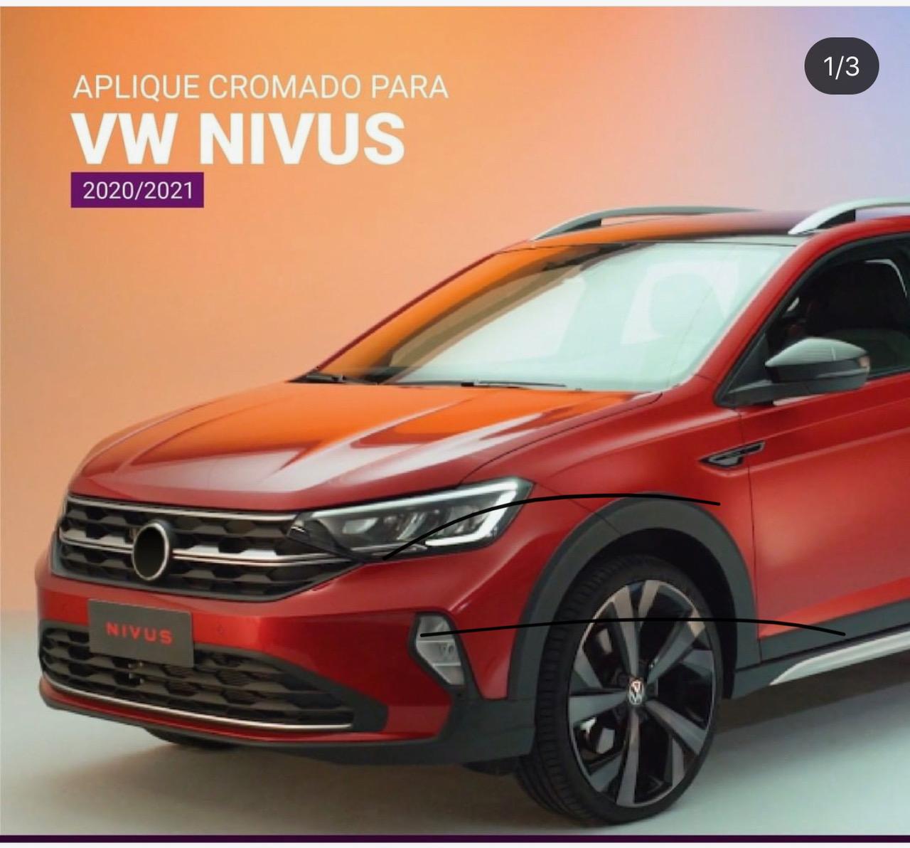 Shekparts lança apliques cromados para VW Nivus
