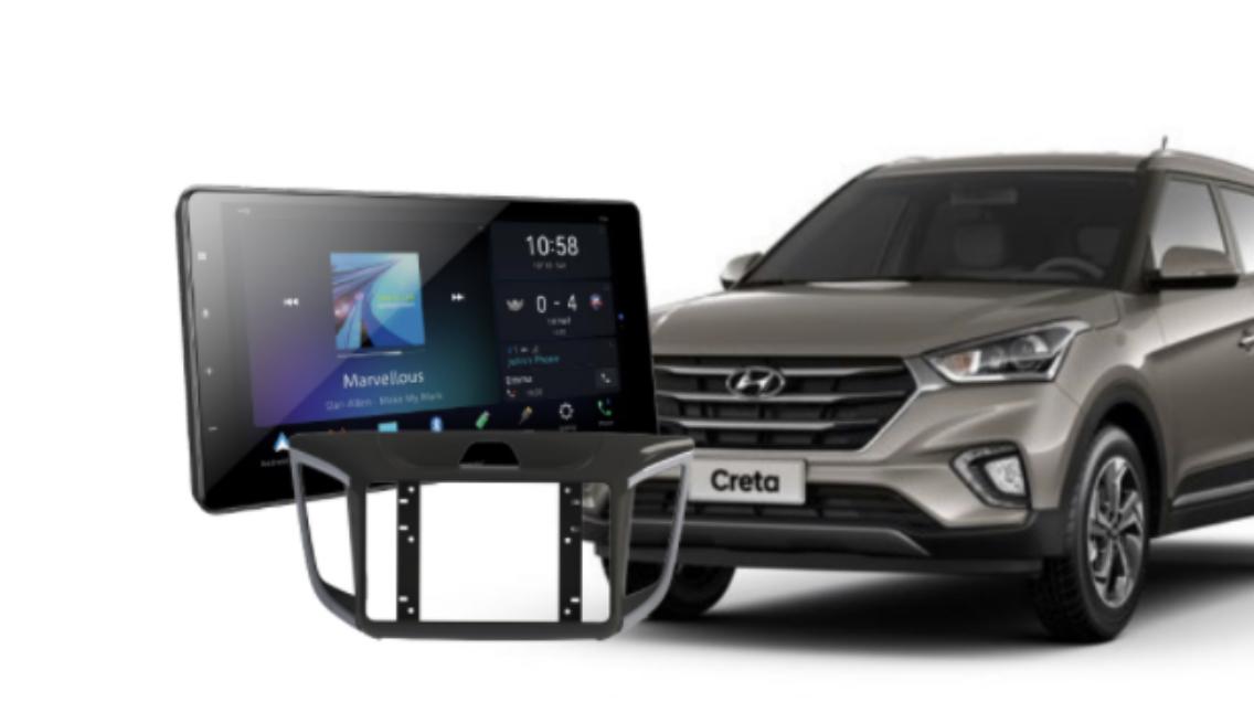 Pioneer lança nova multimídia com moldura pra Hyundai Creta
