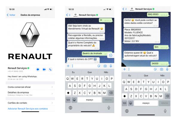 Renault lança agendamento de revisões por WhatsApp