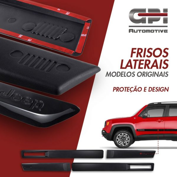 GPI Automotive destaca Frisos Laterais para Jeep Renegade