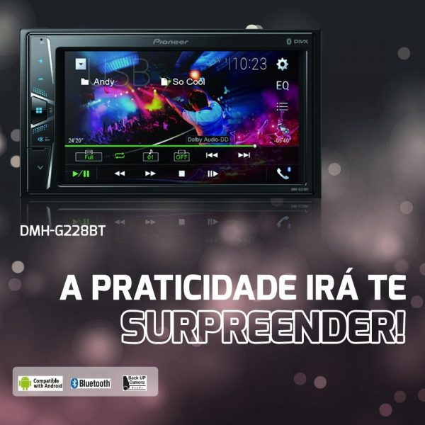 Pioneer destaca central multimídia DMH-G228BT